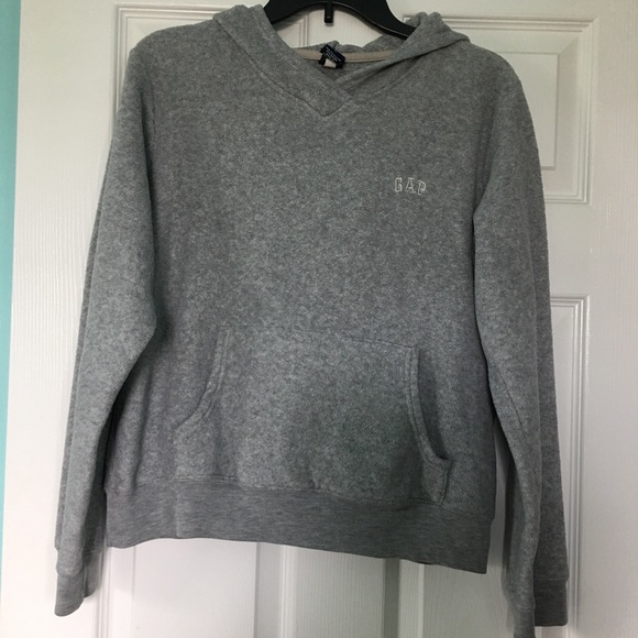 0c5691fc GAP Tops | Vintage Soft Pullover Hoodie Womens Gray Sz Lc1 | Poshmark